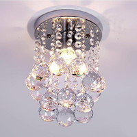 Wholesale High quality light Crystal flush mount in chrome with V E14 W