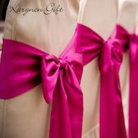 Wholesale karyncn Satin Chair Sashes Wedding Party Banquet Bow Decoration Craft