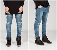 best motorcycle jeans - Streetwear Mens Ripped Biker Jeans homme Men s fashion Motorcycle Slim Fit Black White Blue Moto Denim Pants Joggers Skinny Men best quality