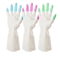 appliances waterproofing - Kitchen Chores Clean Waterproof Rubber Gloves Durable Household Laundry Dishwashing Gloves Kitchen Gloves Wash Dishes B023