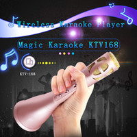 Wholesale New Hot Sale K song Artifact KTV Mini Portable Wireless Bluetooth Microphone Speaker HUI YUAN Outdoor KTV DHL FREE