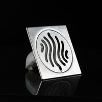 Wholesale BLH Quality Stainless Steel Square Shower Drain Floor Drain Brushed Nickel Grate Drain Hair cm