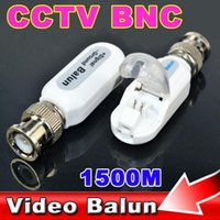 0-10ft balun converter - 1pair Express Install CCTV Video Balun UTP Transceiver M Distance Passive Coaxial Amplifier Circuit BNC Cat5 DVR Converter