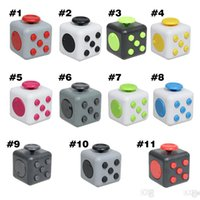 big reduction - Hot selling novelty Fidget Cube stress relief toys for kids and adults colors Decompression stress reduction balls toy with Retail Box