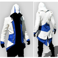 Wholesale 2017 New Hotest Assassins Creed Cosplay Overcoat Colors Fashion Assassin s Creed Cool Men Tops Slim Connor Jacket