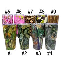 Wholesale Camouflage Flower Cups Mugs oz Tumbler Rambler Bilayer Insulation Cups Beer Mug Vacuum Insulated Stainless Steel Cup Christmas Gift