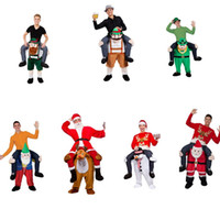 Wholesale Shoulder Carry Me Piggy Back Ride On Snowman Santa Reindeer Fancy Dress Adult Party Costume Party Dress Christmas Party Mascot Costume