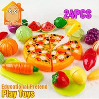Wholesale Minitudou Colorful Miniature Food Cut Vegetables Toy Olastic Fruit Food Toys For Girls Kitchen Pretend Play Set For Kids