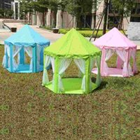 achat en gros de animes de jouet-Tentes de jouets portables Princess Castle Play Game Tent Activité Fairy House Fun Indoor Outdoor Sport Playhouse Toy Kids Xmas Gifts