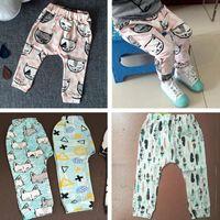 Wholesale Toddler kids Baby girls pants trousers Unisex harem pants clothing boys clothes panda leggings Tights kids capris brand Style