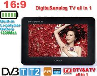 Wholesale LEADSTAR D9 Portable digital TV player Inch DVBT2 DVBT Analog all In Mini led HD display Support record TV program
