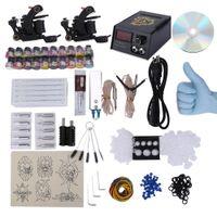 Cheap Wholesale-2016 Cheap Professional Tattoo Makeup Complete Kit Set Gun Machine PermanentTattoo Kits Equipment for Tattoo Ink Pedal