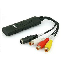 Wholesale EasyCAP USB2 TV DVD VHS Video Audio Capture adapter Converter support Win7 bit