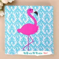 Wholesale Virgin Wood Napkin Greater Flamingo Napkin Paper For Kids Birthday Party Decoration Supplies