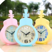 Wholesale Music guitar model electronic clock Contracted the lazy students creative personality pointer of the head of a bed table clock dear little a