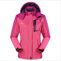Wholesale 2016 Man Women Hiking Jacket Outdoor Sport Wear Hiking Camping Riding Waterproof Super Warm Thicken Plus Size Clothing