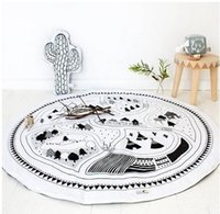 baby floor blanket - 97CM Mother Care Baby Play Mat Baby Blanket Winter Kids Floor Play Mat Travel Round Carpet