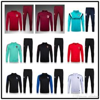 Wholesale New Atletico de Madrid Tracksuits top quality France Soccer Training Jackets Portugal suits football Tracksuits