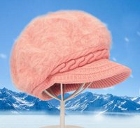 Wholesale girls are thick warm winter knit peaked cap cotton and