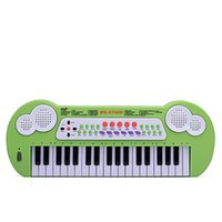 Wholesale 37 key child electronic piano with microphone power supply charging battery dual purpose convenient carrying and matching manual multifuncti