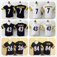baby ben - Little Baby wear Ben Roethlisberger Antonio Brown Le Veon Bell Troy Polamalu Kids Years Baby Jersey Stitched S L