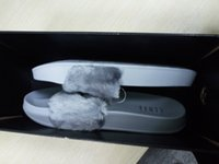 Wholesale With Box and Dust Bags Rihanna Fur Leadcat Fenty Slides Slippers Women Men House Winter Slipper Home Shoes Woman Warm Slippers