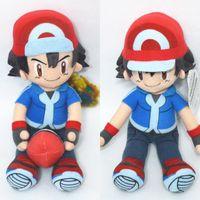 ash ketchum doll - Poke Plush Toy Pikachu Ash Ketchum with Poke Ball Plush Toys Soft Stuffed Dolls Styles cm