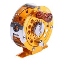 beach wheels - New Arrival Fly Fishing Reel Wheel Glod Color Ice Vessel Proberos Full Metal Diameter MM Lake Ocean Beach Fish Reels