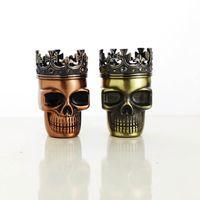 amazing herbs - Online new style skull herb grinders fashion tobacco grinder amazing metal herb grinder