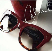 big eye mirrors - new luxury women brand designer sunglasses CL41090 audrey goggle sunglasses wrap design unisex model big frame leopard double color frame