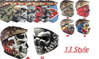 Wholesale Hot Neoprene Full Skull Face Mask Halloween Costume party face mask Motorbike Bike Ski Snowboard Sports Balaclava