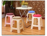 Wholesale home funiture stool dining room restaurant chair North American popular stool garden Balcony plastic stool