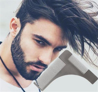 Wholesale bro beard shapping Stainless steel Beard Styling Shaping Template Comb Trim Tool Perfect for Lines Symmetry