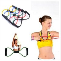 Resistance Bands 10.5x6.5mm  Best quality Resistance Training Bands Tube Workout Exercise for Yoga 8 Type Fashion Body Building Fitness Equipment Tool
