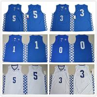 Wholesale Kentucky Wildcats Edrice Adebayo Malik Monk coach John Calipari De Aaron Fox Jerseys New Arrival Style Embroidery Jerseys S XL