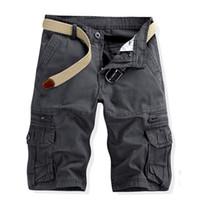 Wholesale Lightweight Active Mens Cargo Camo Combat Work Pants Cotton Five Colors Knee Length Fashion Design