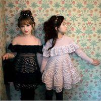Wholesale Winter Children Girl s Long Sleeve Dress Kids Formal Dress High Grade Children s Wear Fashion Lace Splicing Dresses B