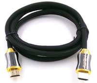 Wholesale 100pcs m m m High Quality HDMI Cable AM AM with metal shall case for P FOR PS3 DVD players cable and satellite