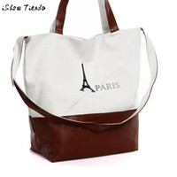 handbags paris - Women Handbag Straps Multiuse Eiffel Tower in Paris Printing Casual Tote Bolsos Mujer