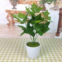 artificial chicken - The sweet potato leaves Simulated color changing wood leaf Ficus plants with gold Simulation of Scindapsus chicken leaves No flower pot
