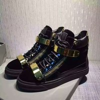 Unisex ash leather sneakers - Studded Buckle Sneakers Black Flat Heel ASH Rivets Trainers Casual High top Side Zipper Sport Shoes Classic Punk Women s Shoes