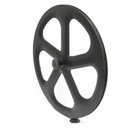 Wholesale Factory outlet Full Carbon five Spokes Track Bicycle Wheel spoke wheelset fixed gear carbon five spokes wheels C clincher tubular