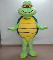 Mascot Costumes Free Size Mascot Costumes Hight quality cute old glasses Turtle mascot Costume custom cartoon character cosply adult size carnival costume fancy dress