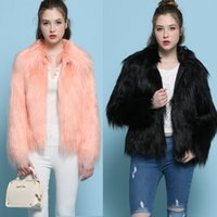 Wholesale 2017 Europe And The United States Fall And Winter New Collar Side Of The Floating Hair Fashion Coat Short Fur Fur Coat B