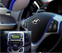 Wholesale 5M Update generation Car interior Decorative thread sticker Insert type Air Outlet Dashboard Decoration Strip Accessories