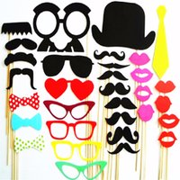 Wholesale Photo Booth Props Masks Lips Favor Wedding Christmas Party Event Party Supplies Wedding Party Decoration photobooth props