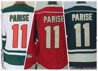 Wholesale Cheap Mens Zach Parise Jersey Minnesota Ice Hockey Jersey Stitched Green White Size M XL