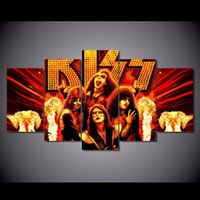 band poster printing - 5 Set HD Printed kiss Band Painting Canvas Print room decor print poster picture canvas NY