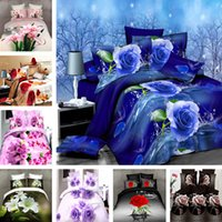 Wholesale King Size New Bedclothes Luxury D Printting Pattern Comforter Bedding Set Pc Bed Sheet Duvet Cover Pillowcase Bedding sets