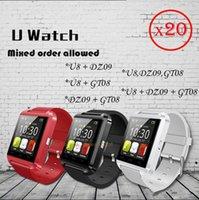 apple freight - 20 Mixed orders Bluetooth Smartwatch GT08 DZ09 U8 Smart Watch With bluetooth Function SIM Card Smart wrist freight free